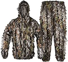 Tongcamo Hunting Ghillie Suit 3D Bionic Leafy Camouflage Clothing for Jungle Hunting, Wildlife Photography, Bird Watching,Halloween, Shooting