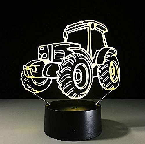 Koplamp 3D tractor nachtlampje USB Power Bank verlichting voor keukenkasten verlichting met bewegingsmelder 3D Lightnight lampvoet
