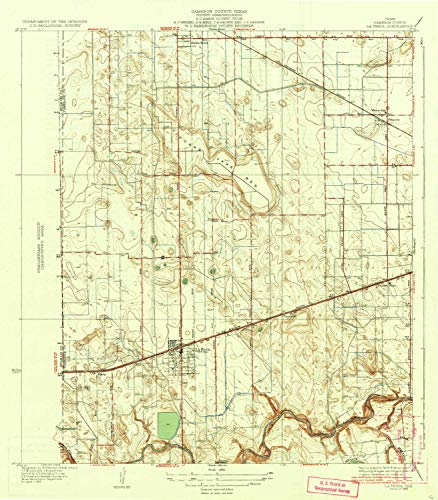YellowMaps La Feria TX topo map, 1:31680 Scale, 7.5 X 7.5 Minute, Historical, 1936, 19.9 x 17.4 in - Tyvek