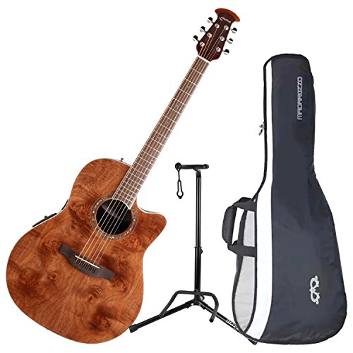 Nutmeg Burled Maple Ovation Celebrity Standard Exotic 6 String Acoustic-Electric Guitar CS24P-NBM Right Handed