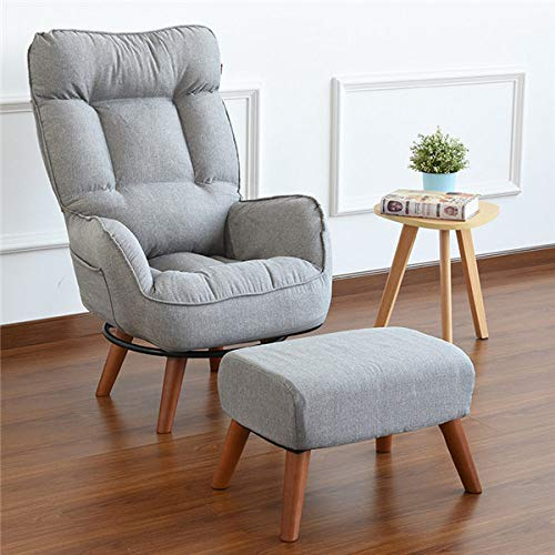 LJQLXJ divano Arm Chair Home Living Room Furniture Reclining Folding Armchair Sofa Low Swivel Chair For Elderly,Grey Color
