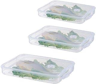 LjzlSxMF Porte-réfrigérateur Alimentaire Boulette Boîte de Rangement Case Alimentaire Organisateur Plateau Container Simpl...