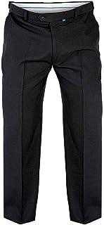 Mens Duke D555 Max King Size Adjustable Waist Trousers -Black