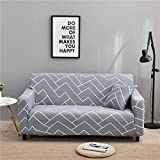 WXQY Funda de sofá elástica Flexible para Sala de Estar, Funda de sofá Universal, Funda Protectora para sillón de Muebles en Forma de L A7 4 plazas