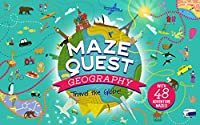 Maze Quest Geography: Travel the Globe!