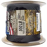 TOUGH-GRID 550lb Black Paracord/Parachute Cord - 100% Nylon Mil-Spec Type III...