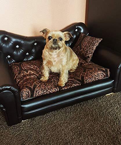 Jaukumo Vizija Traum - hundebett Couch, Katze, Farbe Weiß, Größe 69 x 48 cm, Kunstleder, Handmade (S (69 x 48 cm), weiß)