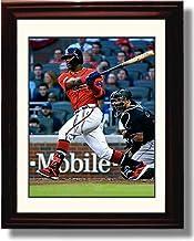 "Framed Ronald Acuña Jr.""Home Run Swing"" Autograph Replica Print"