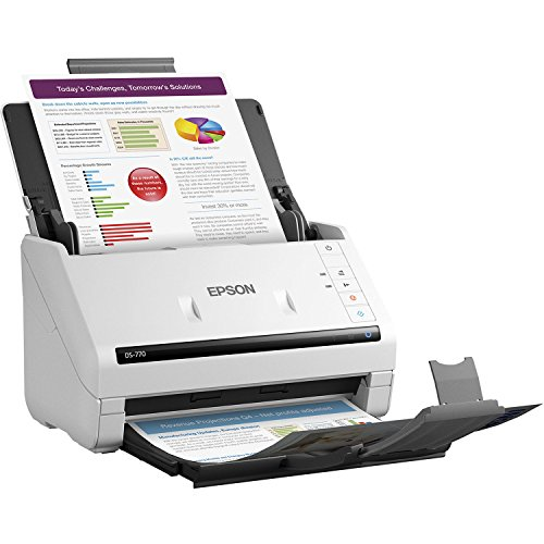 Epson DS-770 Document Scanner: 45 ppm, TWAIN & ISIS Drivers, 3-Year Warranty with Next Business Day Replacement