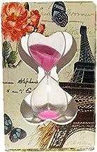 Ampulheta Decorada Retangular Retrô Madeira + Relógio Led - 10 cm