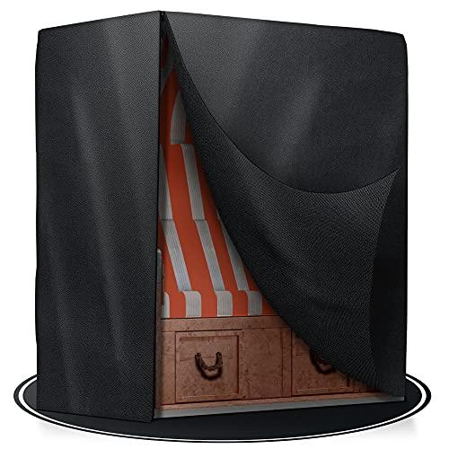 KASSIMAN Funda protectora para silla de playa de lujo – tejido Oxford 600D – resistente al agua y a los rayos UV – 135 x 105 x 175 cm