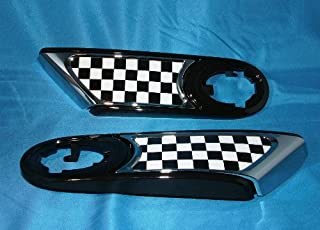 MINI Cooper Hardtop 51-13-0-432-572 Checkered Flag Side Scuttle Insert (Set of Two, Left/Right)