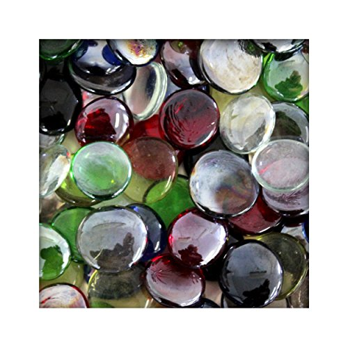 1 kg Glasnuggets Glassteine Muggelsteine Mosaiksteine Tischdeko 25 - 30 mm Bunt