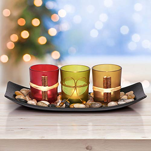 Letine Home Decor Clearance Candle Holders Set for Living Room & Bathroom Decor, Decorative Candle Holder Centerpieces for Dining Room Table & Coffee Table Decor