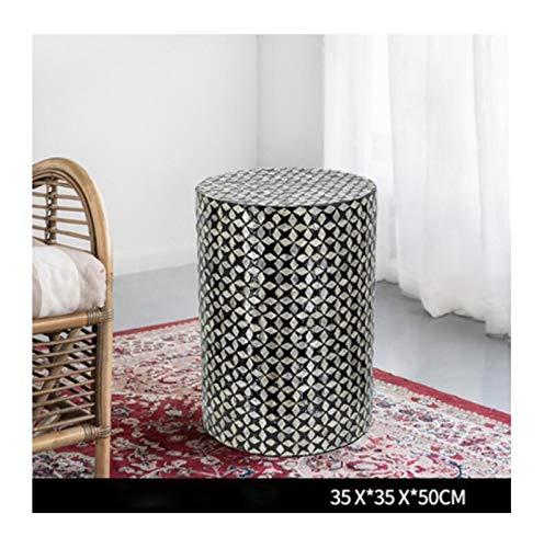 H-ei Muschel-Couchtisch, geometrischer Ecktisch, einfaches Wohnzimmer-Home-Dekoration, mediterraner nordischer Stil (Color : C)