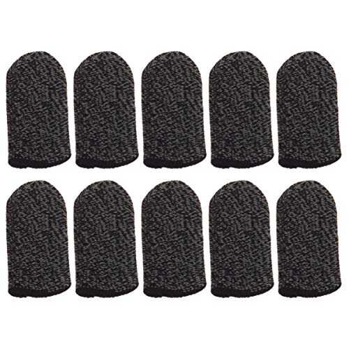CLISPEED Gaming-Fingermanschette, Touchscreen-Handschuhe, Anti-Schweiß, atmungsaktiv, Daumen-Fingerschutz, für Handy-Spiele, 10 Stück