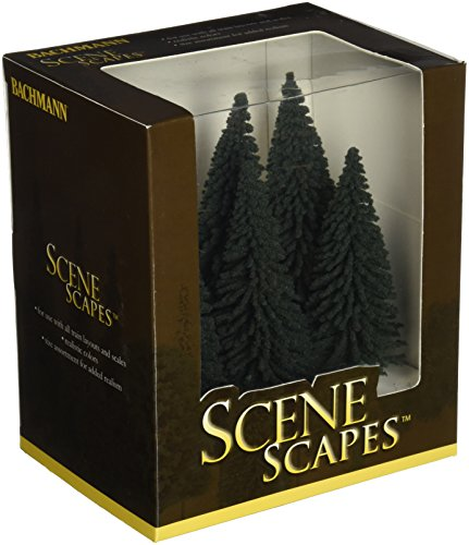 Bachmann Trains - SCENE SCAPES - 5'- 6' PINE TREES (6 per box) - HO Scale