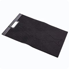 "PORTABLE STINK-FREE MAT - This durable mat is a lightweight, stink free, flexible fish fillet cleaning mat. Fillet away on a boat, dock, shoreline, or bait/fish fillet table. Pressure down on the fish and the mat gets a grip - no ""fish fillet board w..."