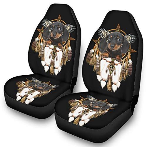Fundas de asiento para coches Dachshund Dreamcatcher Coches Funda de polvo Cojín a prueba de polvo – Funda de asiento de coche 4 estaciones universal blanco onesize