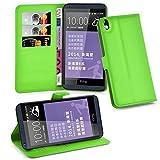 Cadorabo Hülle für HTC Desire 816 - Hülle in MINZ GRÜN – Handyhülle mit Kartenfach & Standfunktion - Hülle Cover Schutzhülle Etui Tasche Book Klapp Style