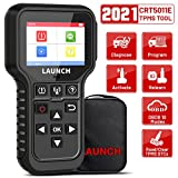LAUNCH CRT5011E 2021 Newest TPMS Relearn Tool + OBD2 Scanner Code Reader, TPMS Sensor (315+433MHz) Activate/Diagnose/Programming/Relearn/Reset/Check, TPMS Tire Pressure Monitor System Read&Clear DTCs