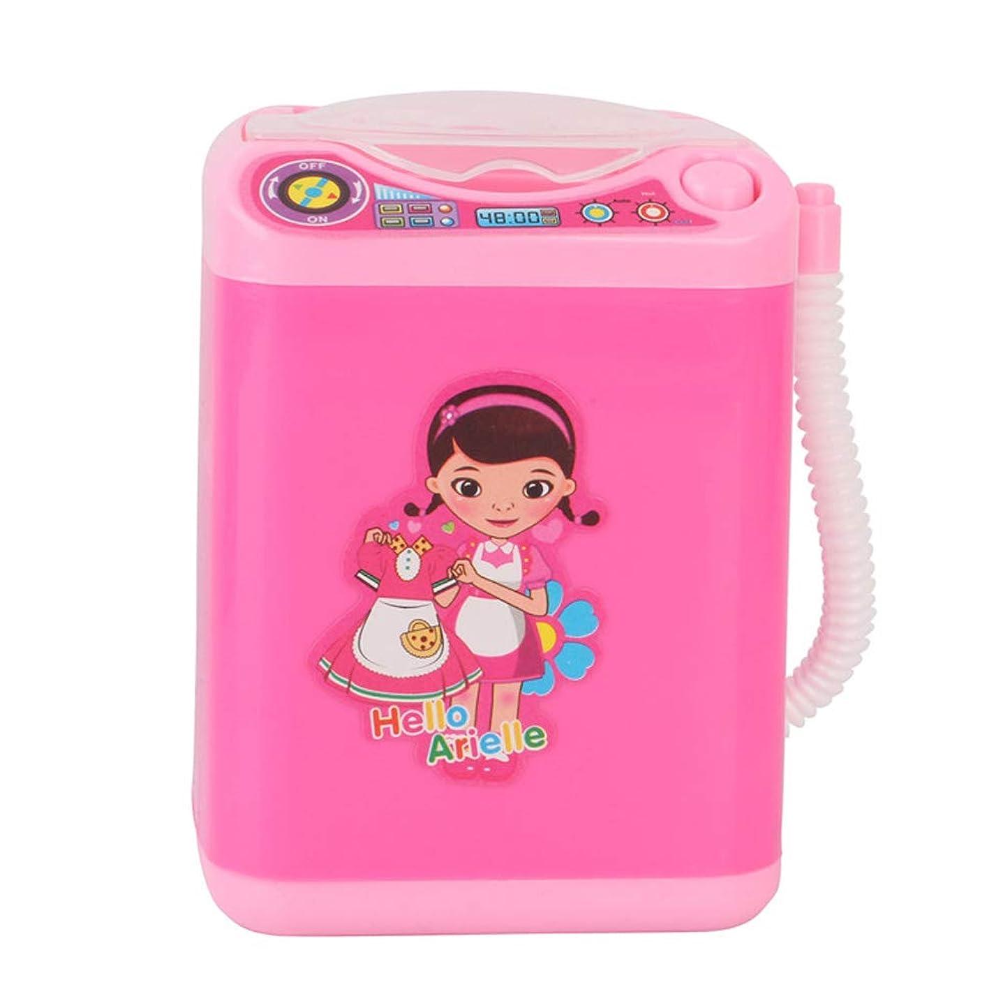 こっそり職業夕方Arvolno 電動メイクブラシクリーナー 化粧ブラシ洗浄器 スポンジ パフ 自動洗浄 電池式 ミニ洗濯機 携帯便利 旅行 DIY 可愛い ピンク 人気 子供のおもちゃとしても大歓迎