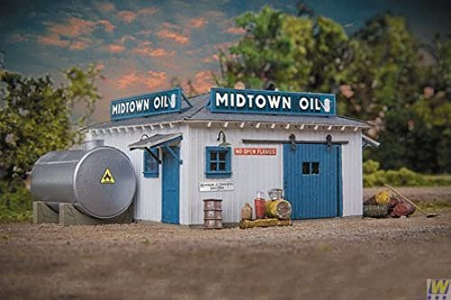 Walthers - Midtown Oil - HO lasercut bois kit by Walthers
