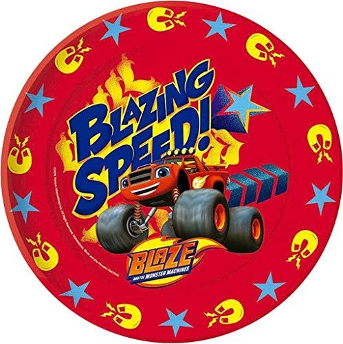 Blaze And The Monster Machine Blaze 8 platos desechables 22cm para fiesta (Gabbiano 27681)