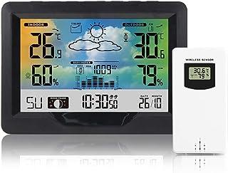 COZHYESS Station météo sans Fil numérique intérieur extérieur thermomètre hygromètre avec réveil baromètre température hum...