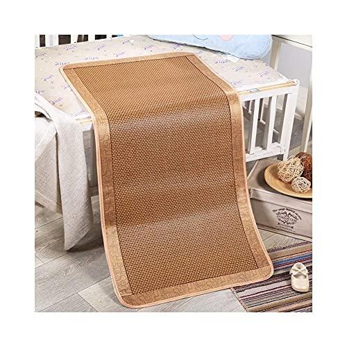 Estera de bambú Rattan refrigeración de Verano Mat de la Estera de ratán, colchón Plegable y colchón de Almohada (Size : 50x140cm)