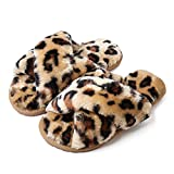 Rubber sole Fluffy Plush Lining: Fluffy and fuzzy plush lining make the slippers very warm, soft and comfortable. When you wear the shoes, they also give you a soft and dry feeling. Durable and Anti-skid Sole: Anti-skid and durable sole give every yo...