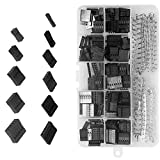 620 Piezas 2.54 mm Paso 1 2 3 4 5 6 Pin JST SM Carcasa Conector Dupont Macho Hembra Pin Pinza Terminal Crimpado Conector Kit de Surtido con Caja de Plástico Transparente