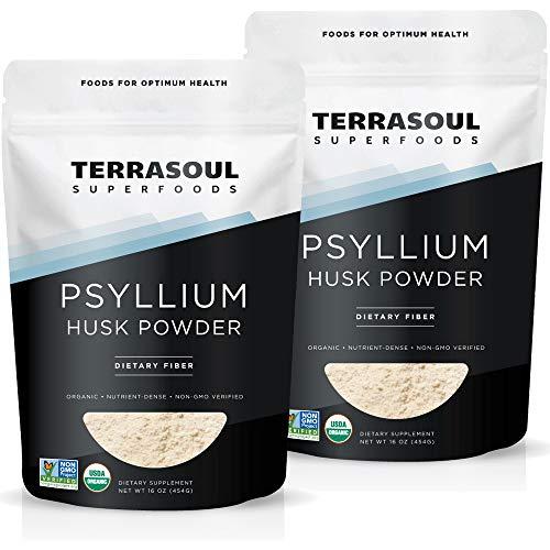 Terrasoul Superfoods Organic Psyllium Husk Powder, 2 Lbs (2 Pack) - Superfine Texture | High Purity | Keto Baking