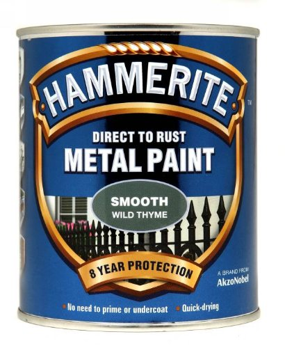 Hammerite Direct to Rust Metal Paint - Smooth Wild Thyme Finish 750ML