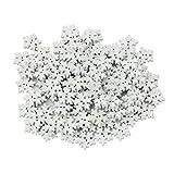 100pz Novità Fiocchi Di Neve Bianca Di Legno Pulsanti Abbellimenti Per 17 mm Mestiere