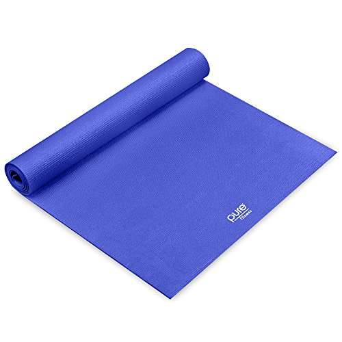 Pure Fitness 3.5mm Non-slip Yoga Mat with Carry Strap - Iris