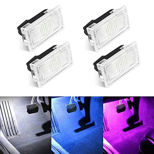 Flytom 1/2/4/8 Uds Kit de Bombillas LED Brillantes para Coche, luz de Maletero para Tesla Modelo 3 X S, reemplazo de Enchufe fácil, decoración de lámpara Interior LED(2PCS,Blue)