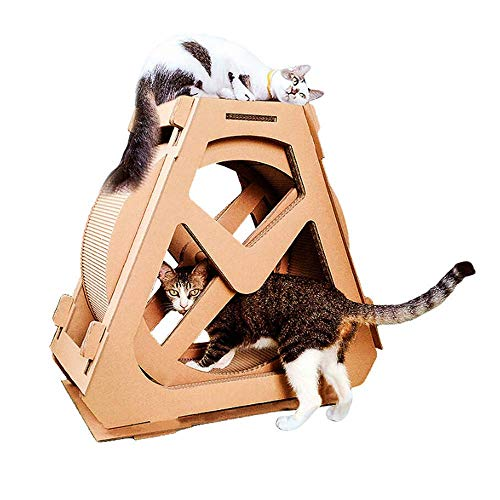 MEETGG Cat Laufband Haustier-Spielzeug Roller Sport Corrugated Nest Cat Claw Brettmultifunktions