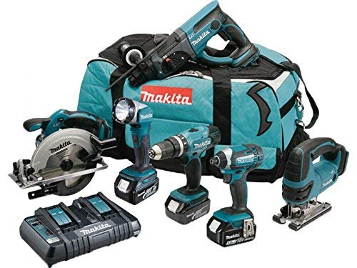 professionnel comparateur MAKITA Pack 6 Machine DLX6068PT, 3 batteries lithium-ion 18 V 5 Ah, étui de transport, chargeur… choix