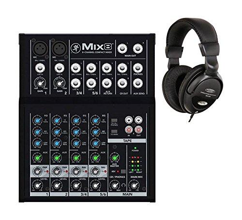 Mackie Mix8 Mischpult mit Kopfhörer Set