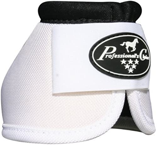 Professionals Choice Equine Ballistic Hoof Overreach Bell botas, Pair (Large, blanco) by professional' S Choice