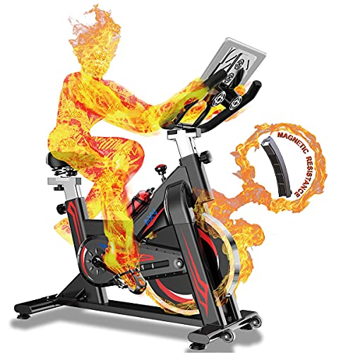 Exercise Bike, Indoor Cycling Bike, Magnetic Resistance Exercise Bikes Stationary, Fitness Equipment Spinning Bike, Adjustable Excersize Spin Bike, Cardio Training Machines for Home Gym workout