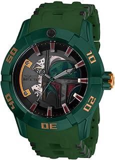 """Invicta """"Star Wars"""" Reloj automático de acero inoxidable y poliuretano para hombre, color: negro (Modelo: 26545)"""