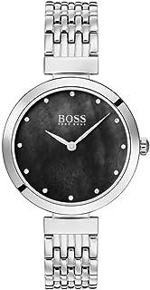 Hugo Boss Womens Quartz Watch, Analog Display and Stainless Steel Strap 1502478