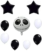 Jack Skellington (Skeleton) Balloon Set - Nightmare Before Christmas Decoration Kit - Holiday Birthday Halloween Party - Bundle by Jolly Jon ®