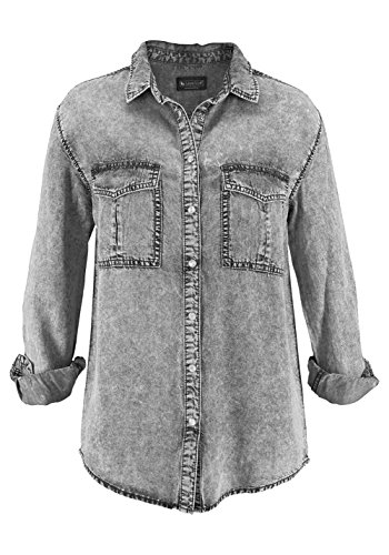 Jeansbluse, grau used (42)