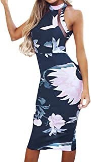 Bodycon Midi Dress Women Off Shouder Blooming Babe Floral Dip Hem Evening Dress Navy