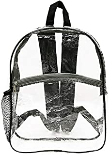 """BAZIC Clear Backpack Clair 17"""", Transparent Bag Large Capacity Waterproof, See Through Plastic School Bag, Security Travel..."""