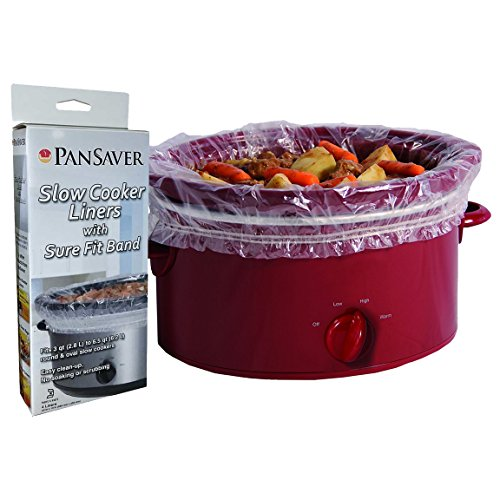PanSaver 24 Pack Disposable Slow Cooker Liners Crockpot Liners Small Quart Cookers Liners with a Sure Fit Band - KOFK Certified Kosher