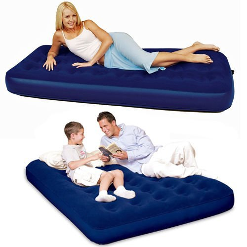 BESTWAY INFLATABLE AIR BED SINGLE DOUBLE MATTRESS HOME CAMPING LUXURY OUTDOOR (SINGLE) by BARGAINS-GALORE